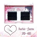 NAGARAKU Easy Fan Mega Volume Eyelash Extensions 0.03 C curl 9-11-13mm Mix Self Blooming Rapid Automatic Flower 3 Layers Soft Pre-glued Lashes beauty salon supplies