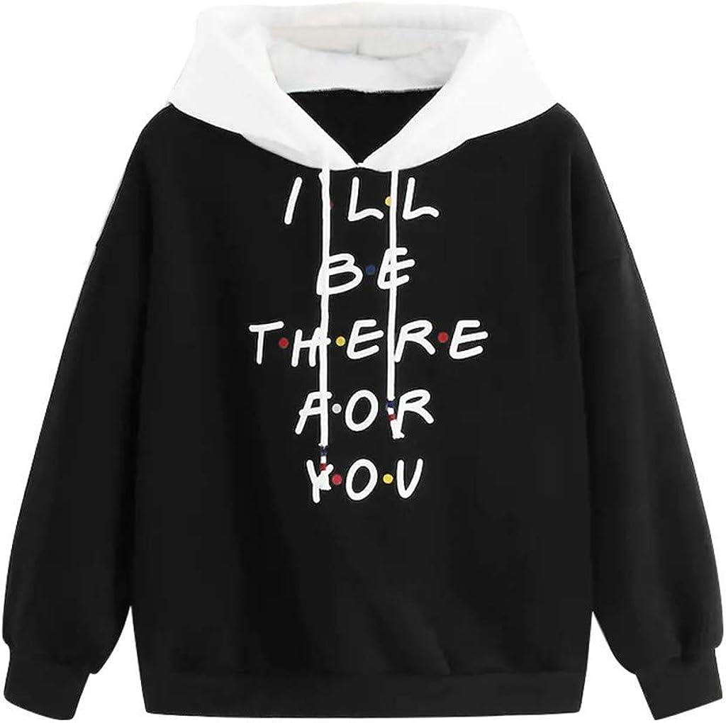Girls' Hoodie, Misaky Cropped Hoodie Casual Letter Print Long Sleeve Hooded Short Pullover Sweatshirt Jumper