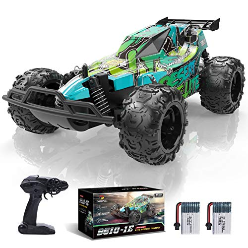 DEERC Remote Control Car,20KM/H High Speed Racing Car with 2 Rechargeable Batteries,2.4GHZ Off Road Trucks Electric Stunt RC Car Toy for Boys&Girls