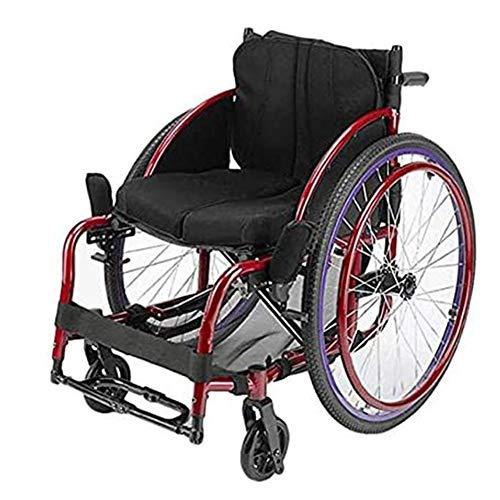 Wheelchair Mode Lässig Sport Rollstuhl Ultraleicht Klappbarer Mobilitätsroller Tragbare Klappbare Rollstühle 360 Grad Drehbares Universal-Vorderrad