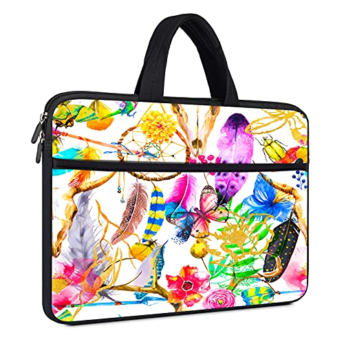 15.6 Inch Laptop Waterproof Case Briefcase Bag for MSI GF65,ASUS VivoBook 15,Acer Aspire/Nitro 5,Lenovo Ideapad 3 15,Samsung Chromebook 4 +,Dell Inspiron 15,HP 15.6' Laptop-Colorful Butterfly