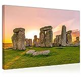 Topquadro Wandbild, Leinwandbild 70x50cm, Stonehenge bei