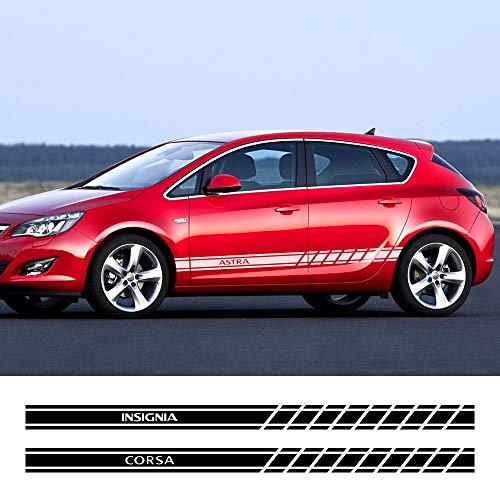 FSXTLLL Auto Seitenstreifen Seitenaufkleber Aufkleber, für Opel OPC Astra J H G K Insignia Corsa D B E Mokka Vectra B