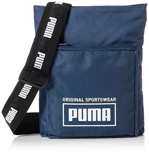 PUMA Unisex Umhängetasche - Sole Portable, Logo, 18x23x3cm (HxBxT) (Blau)
