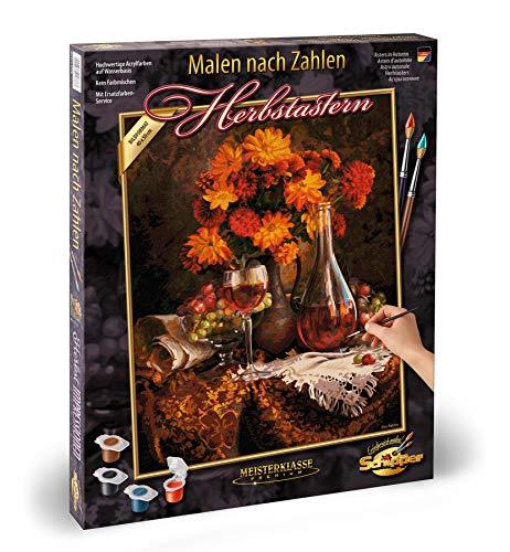 Schipper 609130663 - schilderen op cijfers - herfstasters - afbeeldingen schilderen, voor volwassenen, inclusief penseel en acrylverf, 40 x 50 cm