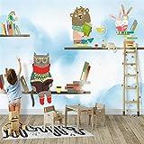 JFSZSD Fototapeten Comic-Tiere 200CMx175CM Vlies Wand Tapete Wohnzimmer Schlafzimmer Büro Flur Dekoration Wandbilder Moderne Wanddeko