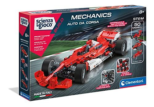 Clementoni - 19038 - Scienza e Gioco - Laboratorio di Meccanica - Auto da corsa, 8 anni +