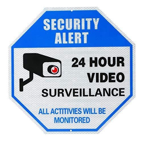 Videoüberwachungsschild reflektierendes Warnschild kein