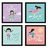 Chaka Chaundh - Cartoon Photo Frames For Kids - Kids Quotes Frame