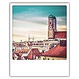 Pickmotion PolaCards München - Hochwertige Polaroid Postkarten im Retro Stil - Farbenland