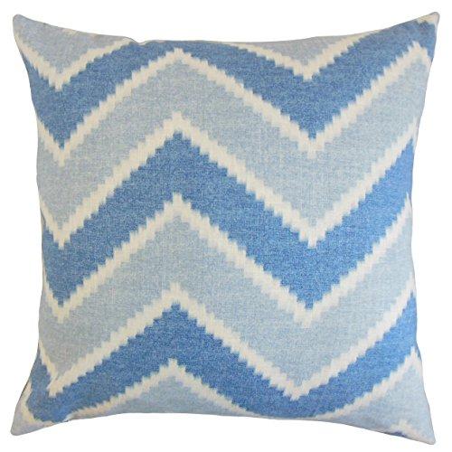 The Pillow Collection Hoku Zigzag Funda de Almohada, 45,7 x 45,7 cm