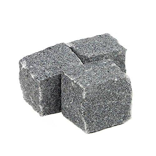 Kopfsteinpflaster Granit anthrazitgrau, Granitpflaster anthrazitgrau, Pflastersteine Granit anthrazitgrau, in 1000kg Big Bag oder Holzkiste