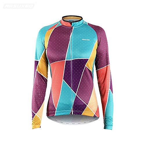 Gimitunus Maillot Ciclismo Mujer Thermal Camisa de Manga Larga con Estampado de...