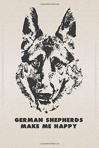 German Shepherds Make Me Happy: Mail Tracker Notebook - A Premium Journal And Logbook To Check All Your Email - Special Gift For German Shepherd Dog Lovers & Owners!