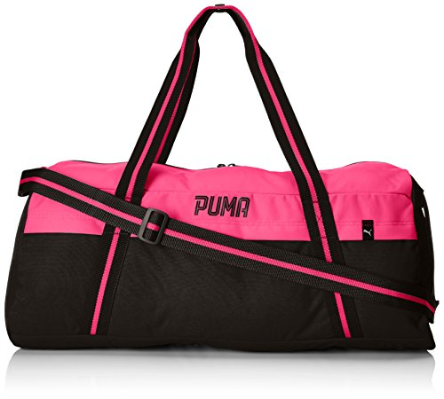 PUMA Fundamentals Sports Bag II Sporttasche, Black-Knockout pink, 59 x 25 x 3 cm
