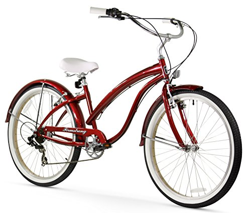 Firmstrong Bella Classic 7-Speed Beach Cruiser Bicycle, 26-Inch, Baby Blue