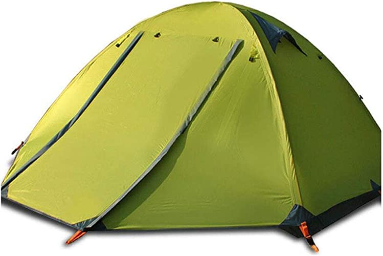 KISlink Tente de Camping Libre Debout de Tissu de la Couche 210D Ultralight Mise à Niveau vers Le Haut pour 3 Personnes