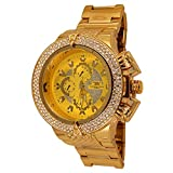 techno king watches for women - Techno King Men's Iced Out Hip Hop Metal Band Watch (6814GM-GD)