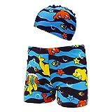Allence Jungen Boy Cartoon Strand Hosen Badehose Shorts + Badekappe zweiteiligen Anzug