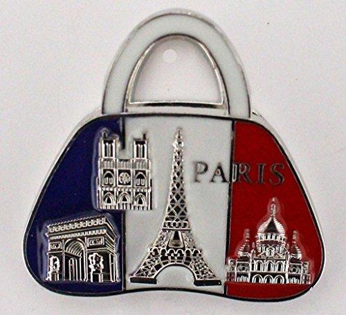 magnet aimant de frigo pince cadeaux souvenir de France Paris métal G61 (G61)