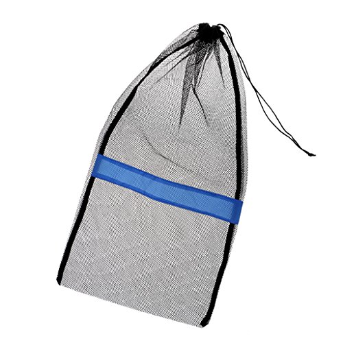 Seafard Drawstring Mesh Bag, Nylon Reusable Washable Scuba Diving Snorkeling Drawstring Pouch Storage Bags for Laundry, Gym,Swimming, Camping & Travel - 25x13in