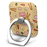 Delicious Sweet Ramen Cell Phone Ring Holder Finger Kickstand 360° Rotation Metal Ring Grip,Compatible with All Smartphone