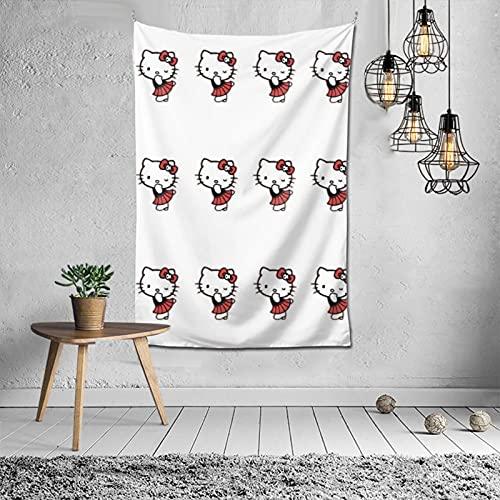 Tapiz de dibujos animados de Hello Kitty, 152 x 100 cm, puede decorar dormitorios, salas de estar y dormitorios, suave y duradero