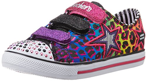 Skechers Toddler (1-4 Years) Twinkle Toes: Chit Chat-Prolifics Black/Multi Light-Up Sneaker - 7 M US Toddler