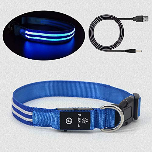 Led Dog Collar - 100% Waterproof Light Up Dog Collar, Safety Pet Collar - Flashing Light Collar for Small, Medium, Large Dogs