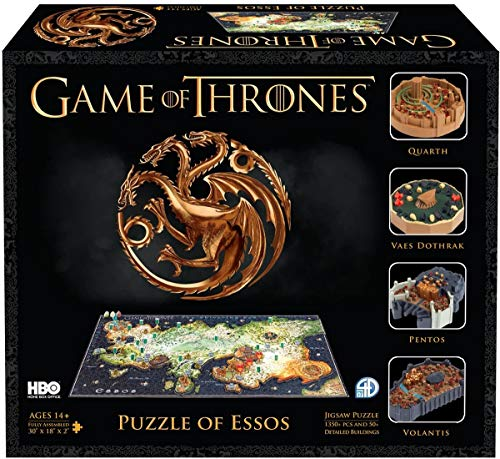 4D Cityscape Game of Thrones (GoT) 3D Time Puzzle of Essos (1400-Piece)