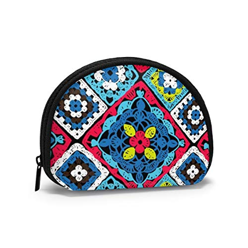 Granny Square Crochet Beauty Fashion Monedero pequeño para...