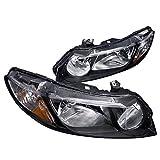 Spec-D Tuning 2LH-CV064JM-RS Honda Civic 4Dr Dx Lx Ex Oem Black Head Lights Lamps Pair