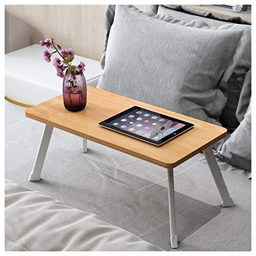 Table Pliante Lit d'ordinateur Portable lit d'étudiant Pliant Portable de Table d'ordinateur de lit d'étudiant (Color : Light Brown)