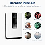 Hathaspace smart true hepa air purifier for home, 5-in-1 large room air cleaner for allergies, pets, asthma, smokers… 13 purify your air: protect your family from home air pollutants like dust mites, pollen, pet dander, pet hair, odors, smoke, and voc's. Our 5-in-1 true hepa air purifier captures particles you can't see, filtering 99. 97% of pollutants as small as 0. 3 microns. Breathe easier: nothing feels better than breathing clean air. Read our 5,000+ reviews and see just how much our air purifier has helped with common allergy symptoms like sneezing, coughing, and irritated eyes. Remove odors, smoke, & voc's: both an air cleaner and odor eliminator, our air purifier features a unique honeycomb activated-carbon filter that absorbs odors, smoke, and voc's. Ozone-safe and fully approved by carb, an anion generator can be separately turned on to target the most stubborn odors like litter boxes, cigarettes, and old homes.