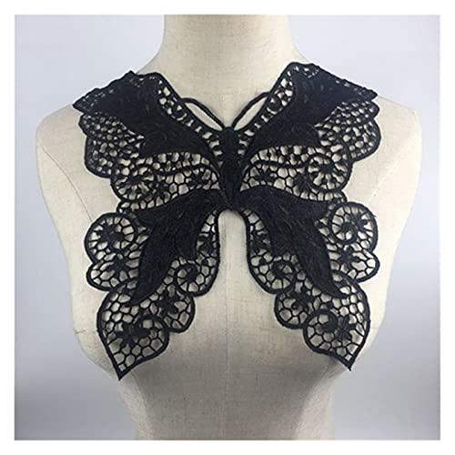 1pc Negro Bordado Collar De Lentejuelas Floral Apliques De Encaje Collar Collar De Cuello Accesorios De Prendas De Vestir Scrapbooking (Color : BW163B)