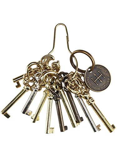 KY-2AB KEY REPRODUCTION ANTIQUE BRASS PLATED HOLLOW BARREL