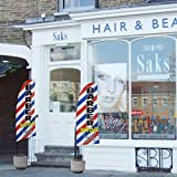 QSUM Friseurladen Bali-Fahnen   Barber Shop Swooper Flagge, Premium Anzeigenschaltung Werbebanner (8Ft, Windstill)