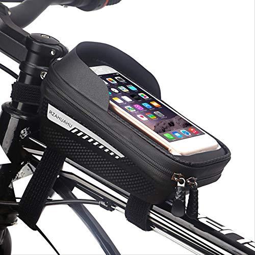 Bolsa De Marco De Bicicleta, Bolsa Impermeable Del Manillar De La Bicicleta Con Pantalla Táctil Y Visera, Bolsa De Teléfono De Bicicleta De Gran Capacidad (6,7 Pulgadas Para El Iphone Samsung Y Otros