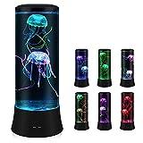 MKIU Acuario De Fantasía De 7 Colores, Medusas Hipnóticas, Lámpara De Cabecera Que Cambia De Color, Luz Nocturna Led para Niños, Decoración para El Hogar
