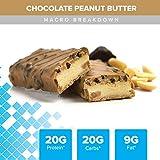 Bodybuilding Chocolate Peanut Butter Signature Protein Crunch Bar | 20g Whey Protein Low Sugar |...