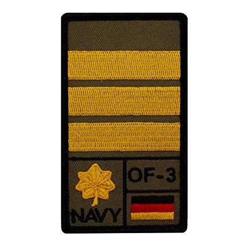 Café Viereck ® Korvettenkapitän Marine Bundeswehr Rank Patch mit Dienstgrad - Gestickt mit Klett – 9,8 cm x 5,6 cm