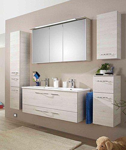 PELIPAL Solitaire 6110 3 TLG. Badmöbel Set/Waschtisch/Unterschrank/Spiegelschrank/Comfort F