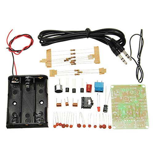 KASILU Dlb0109 5pcs Kit de transmisor de FM RF-02 Piezas de micrófono de Radio RF-02 Repetidor MP3 Micro transmisor con Soporte de la batería de la Antena Alto Rendimiento