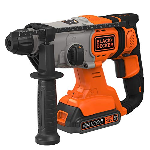 BLACK+DECKER BCD900D1S-QW Martillo SDS-Plus 18V con 1 batería 2Ah