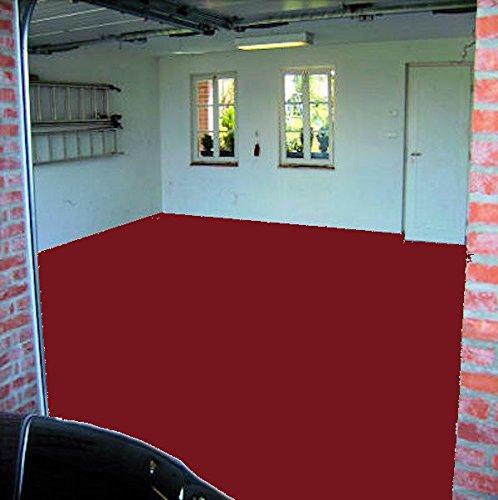 5kg RAL 3011 schwedenrot rot Alkydharz Alkyd matt Betonfarbe Garagenfarbe Garagenboden Weichmacherbeständig