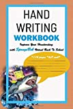 Hand Writing Workbook: Improve Your Handwriting with Minions Virtual Back To School *114 pages *6x9 inch*: SpongeBob Hand Writing Workbook