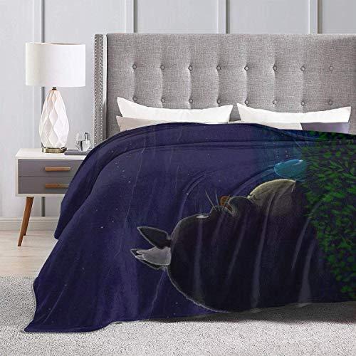 zhenglongbaihuodian Totoro Soft Blanket, Flauschige Mikrofaser-Wollvliesdecken, passend für alle Jahreszeiten, warme Bettwäsche nach Maß. 60 '' x 50