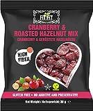 FitFit getrocknete Cranberry geröstete Haselnuss Studentenfutter 16x30g Nüsse Nussmischung...