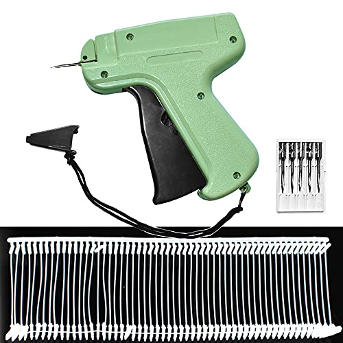 Retail Price Tag Attacher Tagging Gun for Clothing Clothes Label Tag with 6 Needles & 1000pcs Barbs Fasteners Store Warehouse Consignment Garage Yard Sale