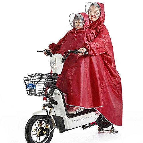 Zhihui poncho ZZHF yuyi Creatività Batteria auto Poncho genitore-figlio 2 persone/Impermeabile per auto elettriche/Incrementare Moto adulto Impermeabile per bambini (5...